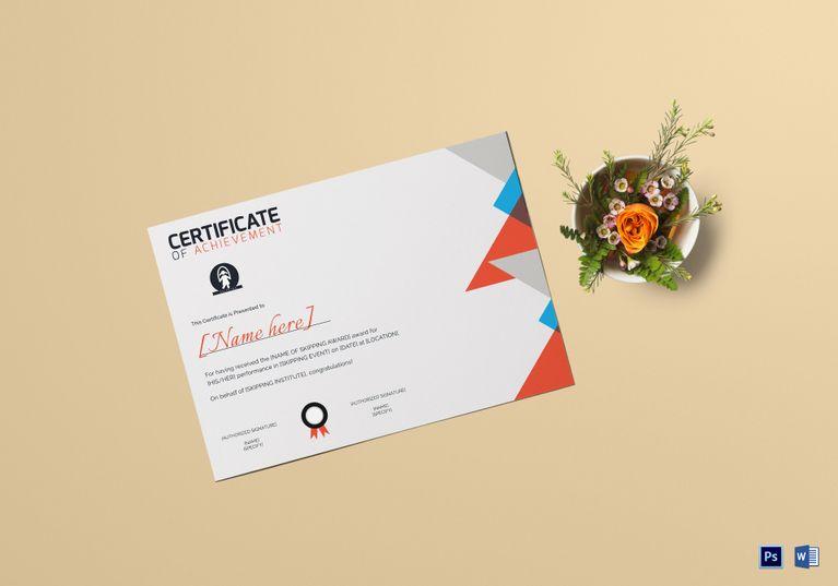 Skipping Award Achievement Certificate Template Achievement - experience certificate templates