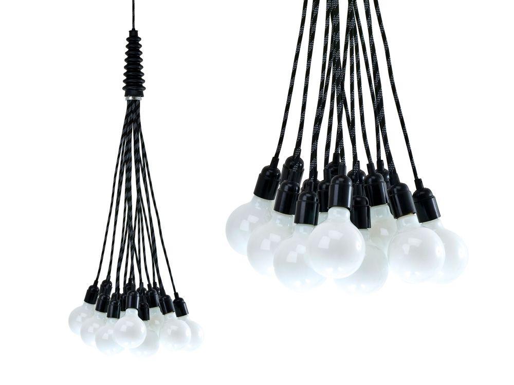 Teardrop Glass Filament 19 Cord Chandelier