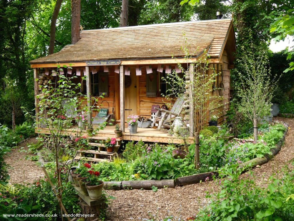 Cabin/Summerhouse from Back garden owned by John & Rebecca Bunting |  #shedoftheyear @buntingrebecca1 #logcabinhomes