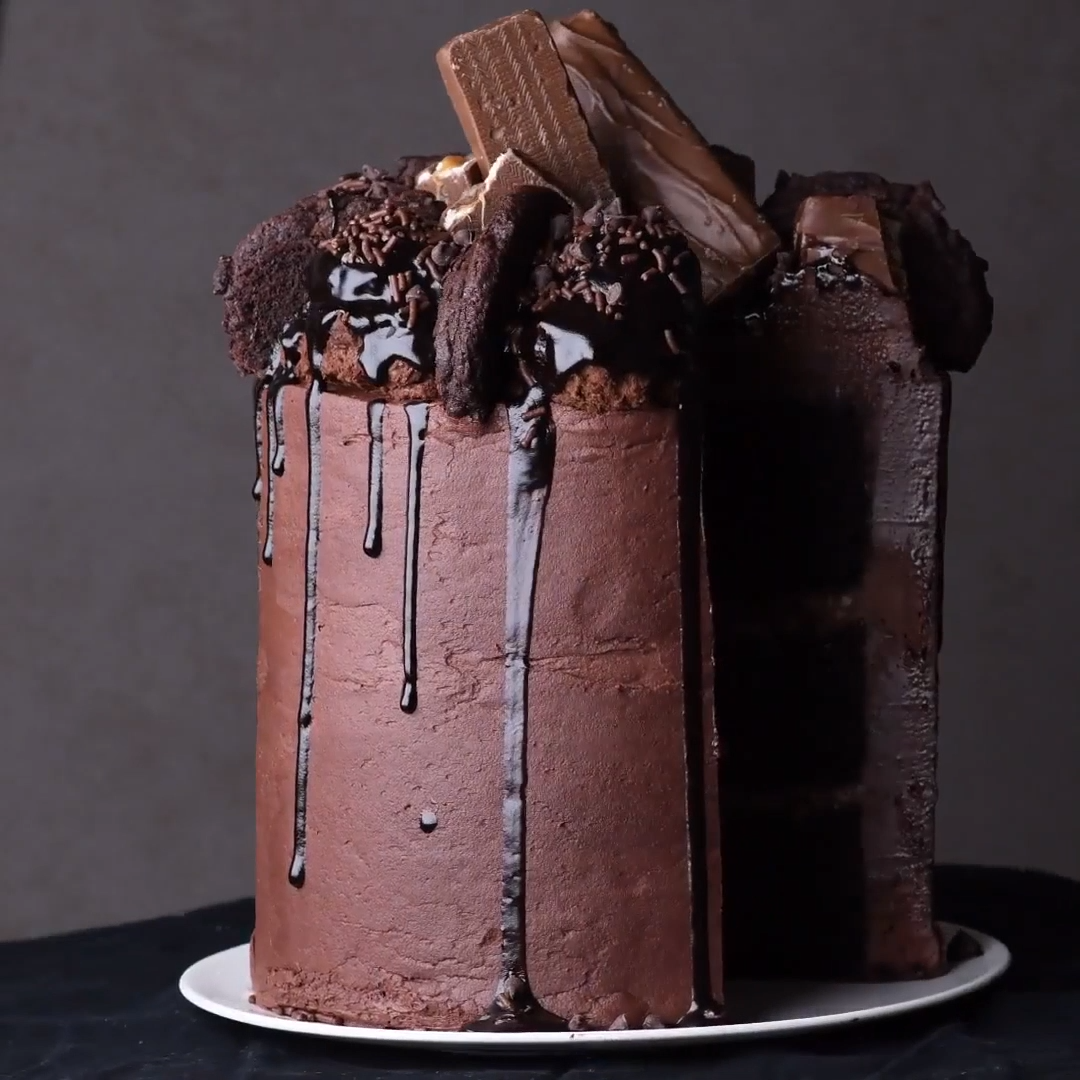Double Chocolate Crunch Cake