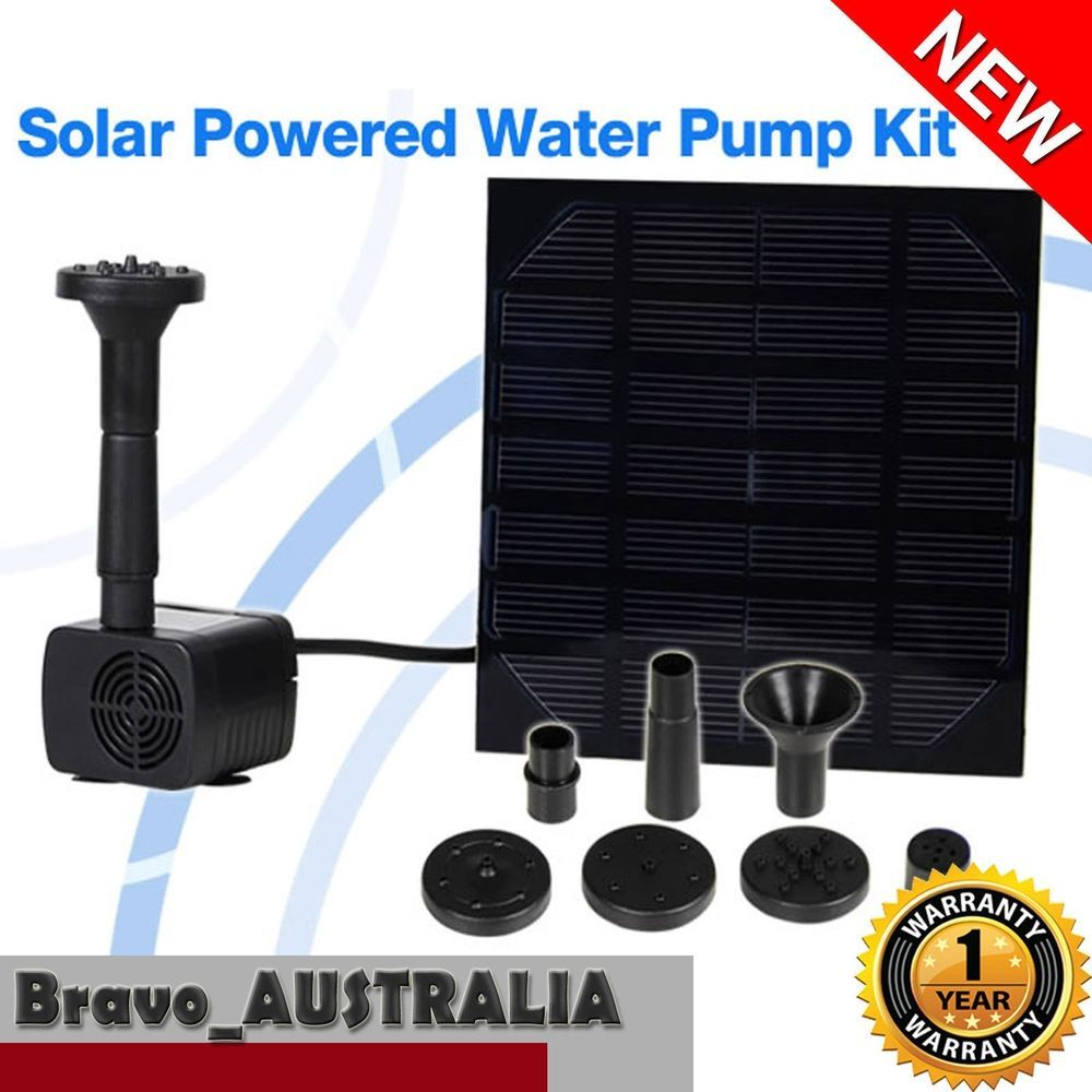 Garden water features solar power  v Solar Powered Outdoor Garden Fountain Pond Pool Water Feature