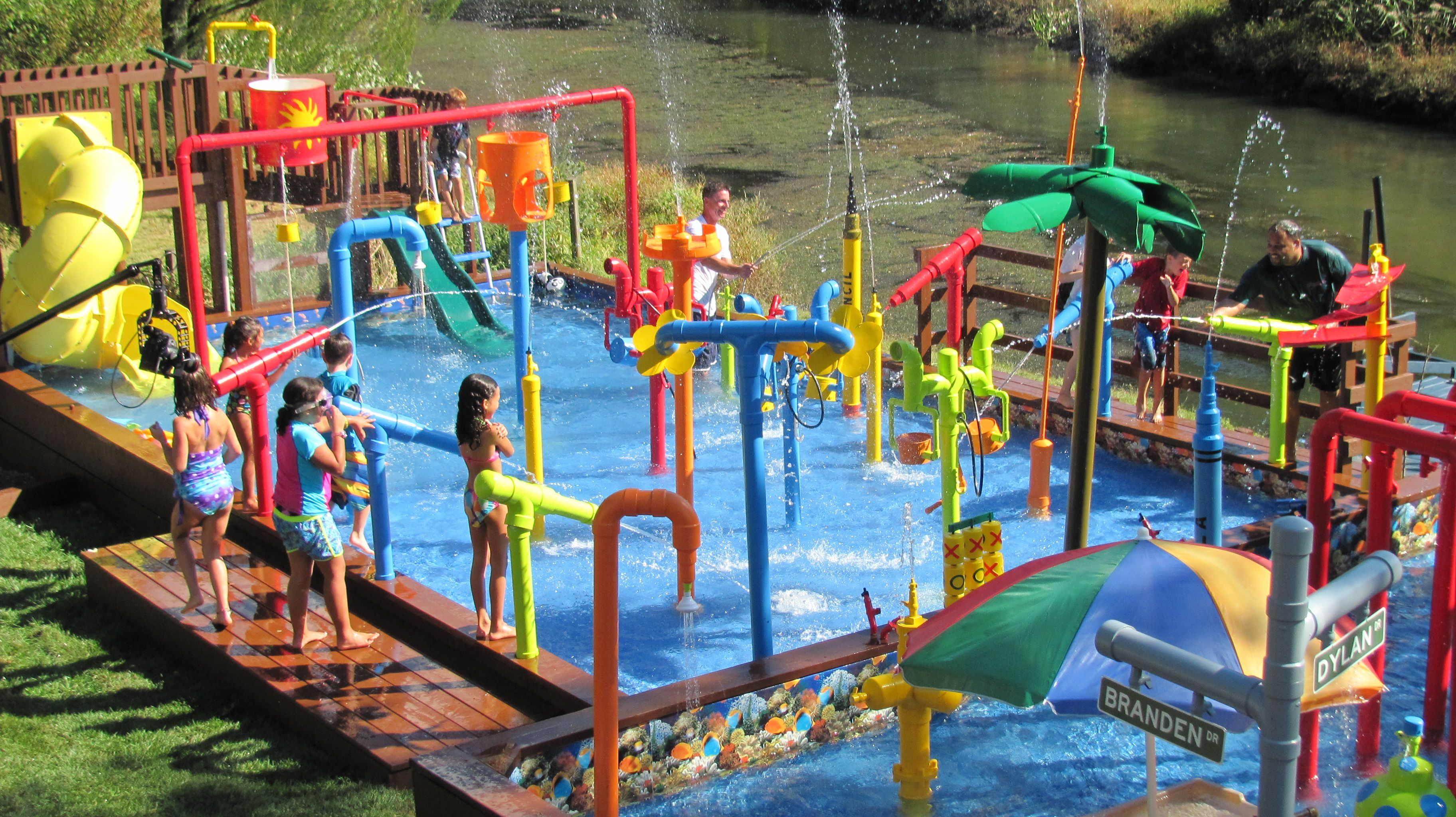 this waterpark i designed and built in my backyard will be