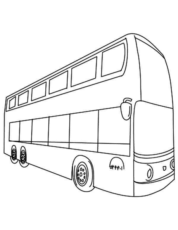 Double Decker Bus Line Coloring Page Like The Kmb Bus Or Citybus
