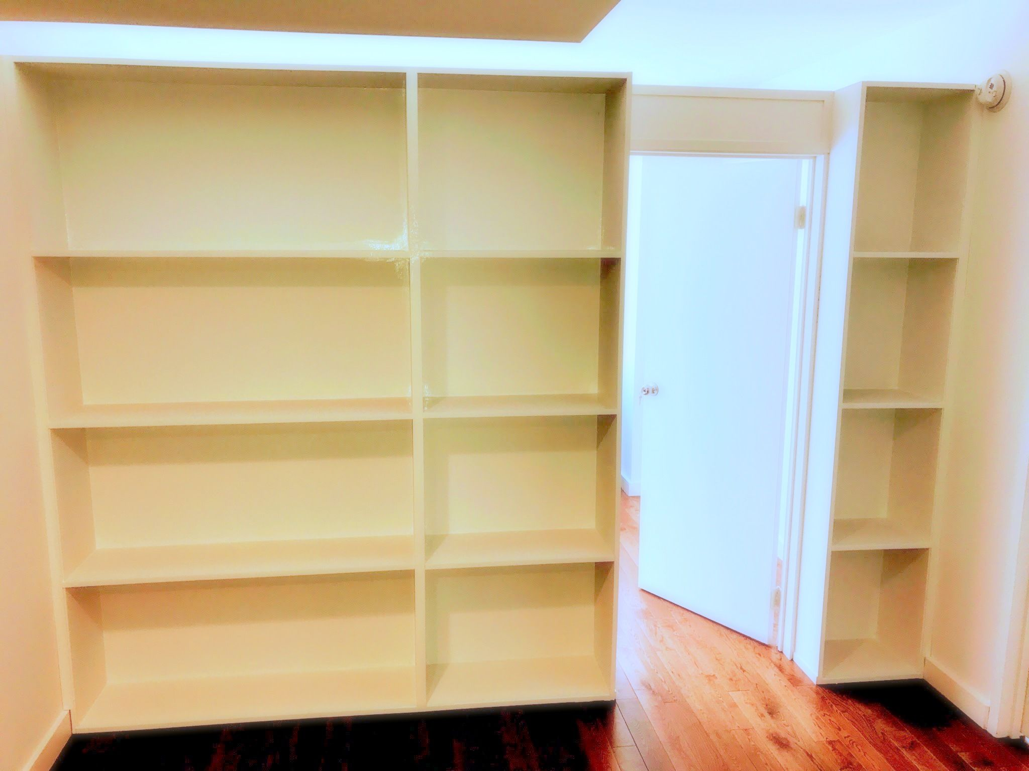 Recent installation: Custom apartment storage partition. Call us for ...