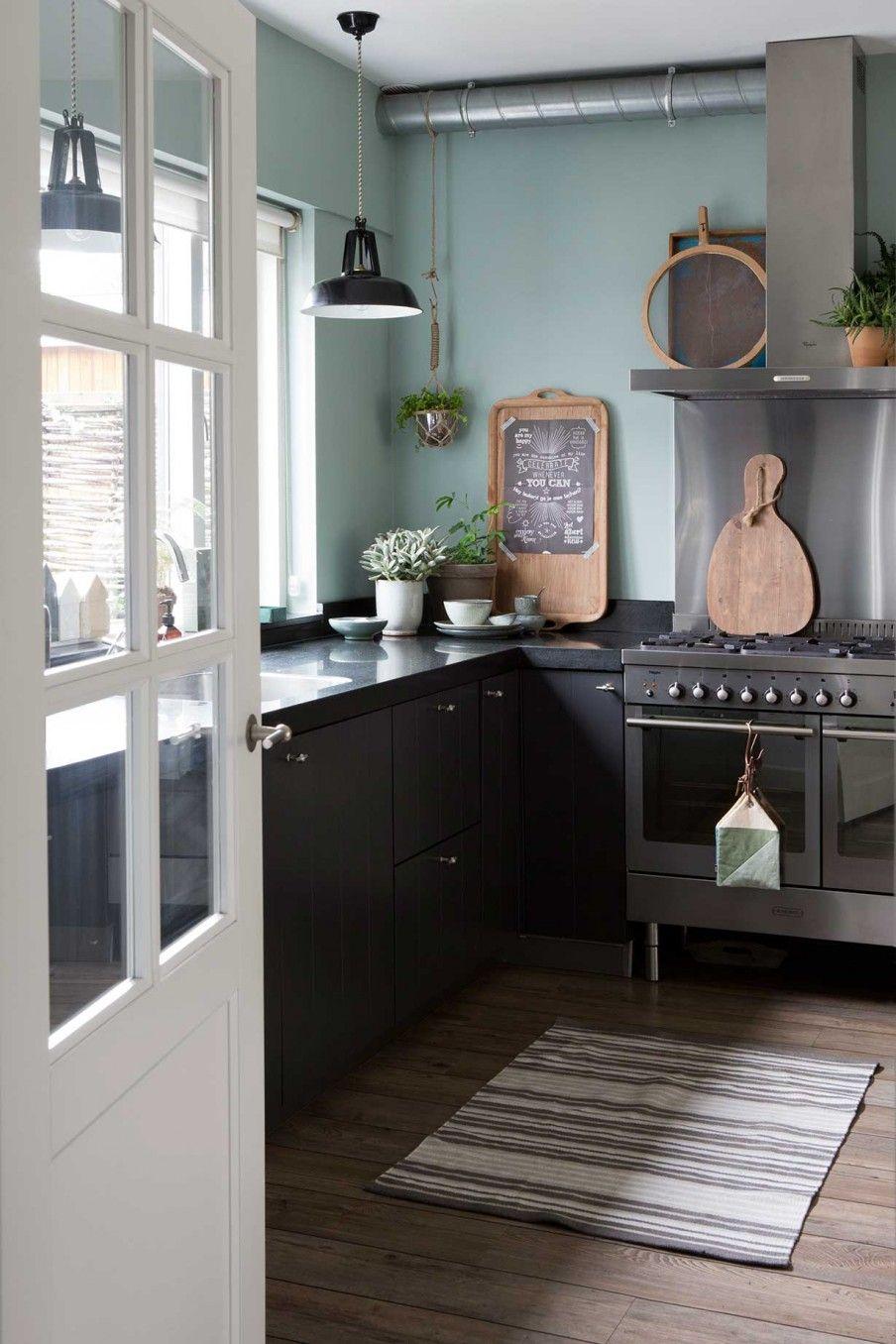 Une Maison En Vert De Gris Kitchen Decor Pinterest Kitchen