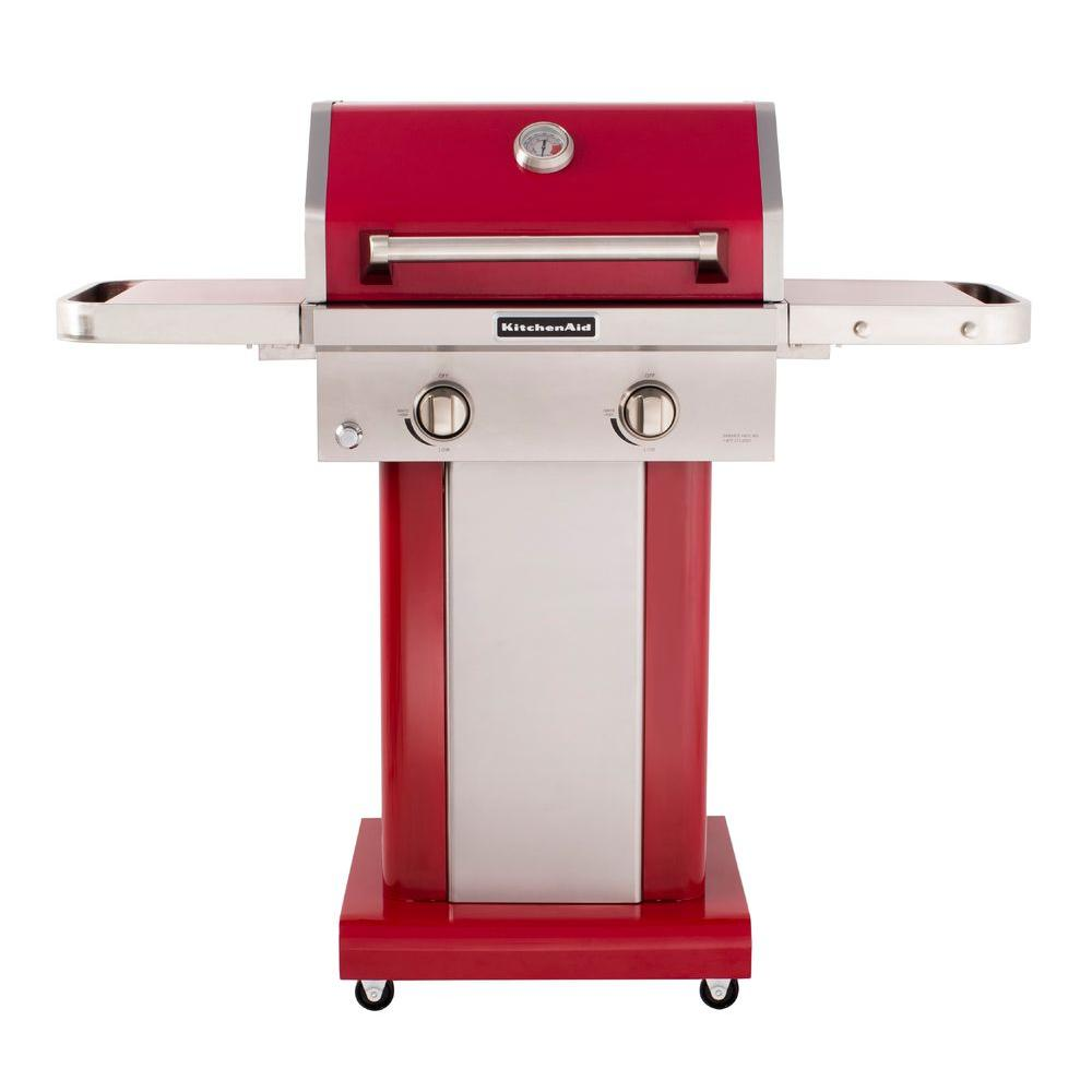 Sizzle The Summer Away With This Stainless Steel Gas Grill It Features 2 Burners And Foldable Side Shelves So You Ll Propane Gas Grill Grill Cover Gas Grill