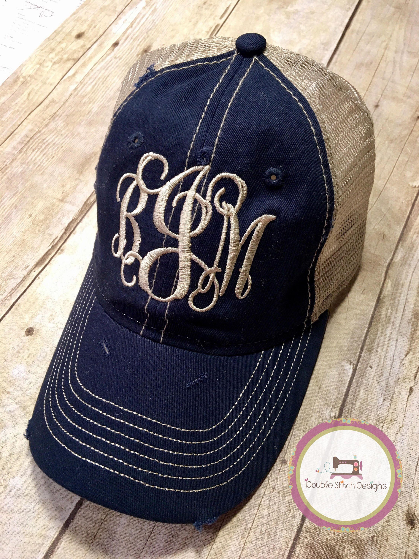 Monogrammed trucker hat c32d0db8f5c9