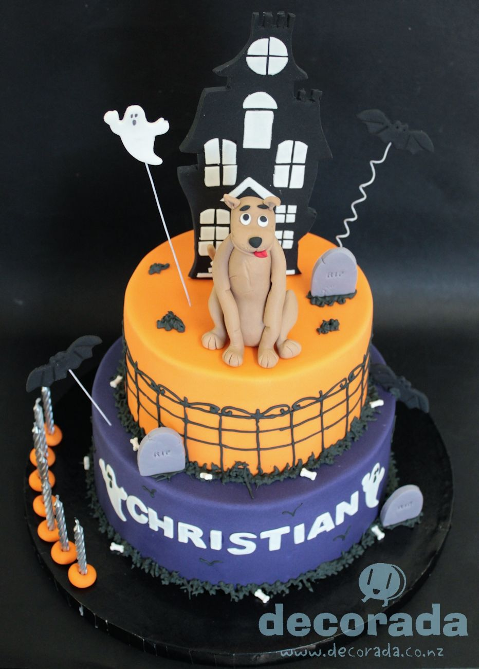 Scooby haunted house cake Halloween - My favorite holiday of the - halloween houses decorated