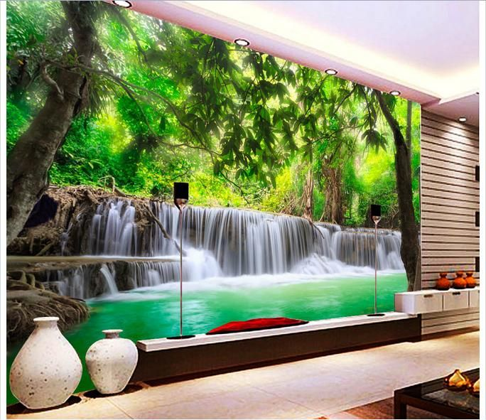 Cheap Wallpaper Buy Quality Wall Murals Wallpaper Directly From China  Wallpaper Suppliers: Customized Wallpaper Wall Murals Wallpaper 3 D Hd  Jungle River ...