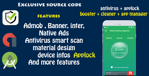 Antivirus + Applock + Booster + Cleaner + AppManager