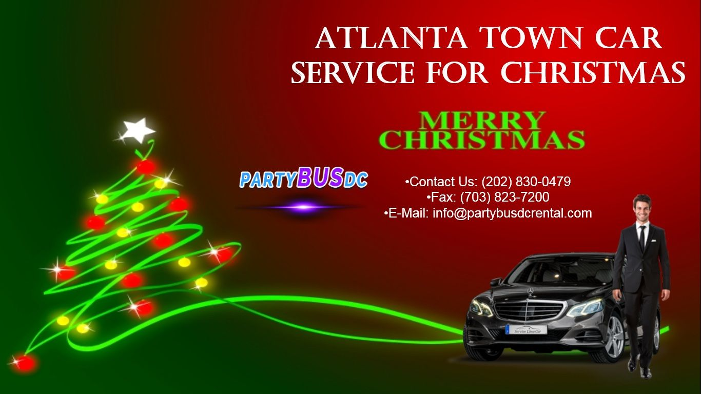 Atlanta Town Car Service for Christmas Black car service