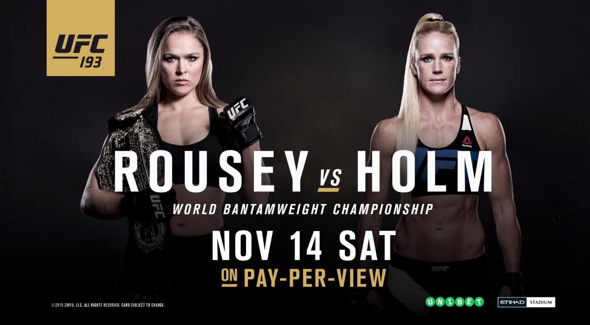 UFC 193 Live Streams free Rousey vs. Holm PPV Nov 14, 2015