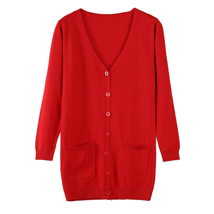 Women Cardigan Spring Autumn Lady Cashmere Sweater Fashion Medium ...