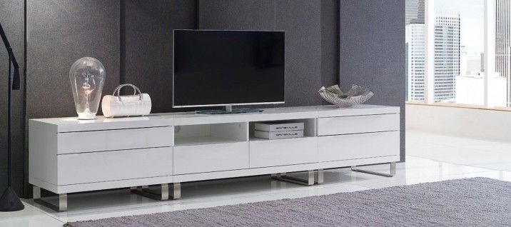Quattro 280cm Gloss White Tv Cabinet | Gainsville Furniture ...