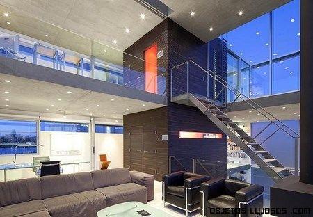 casas de lujo con escaleras metálicas | Proyectos que intentar ...