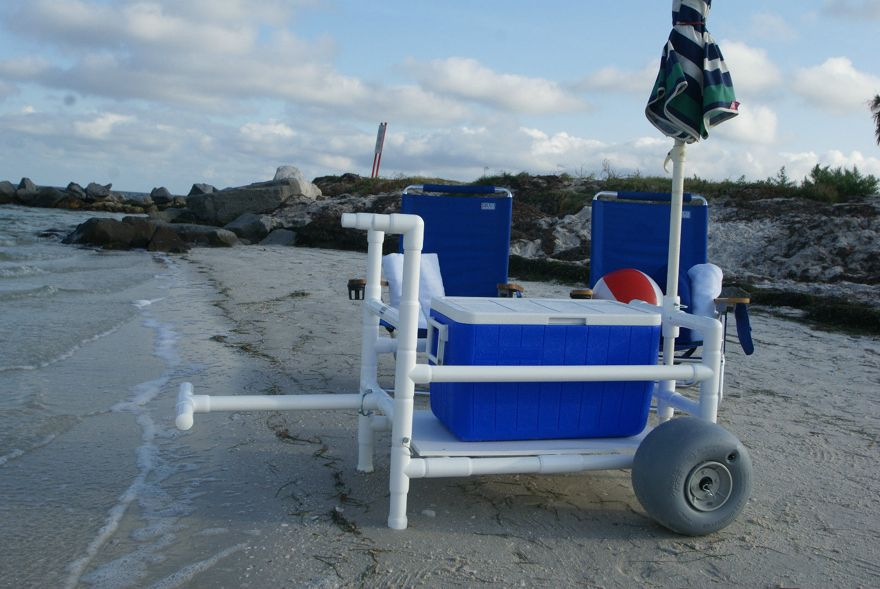 Heavy Duty with Xtra Wide Wheeleez Tires PVC Fishing Cart