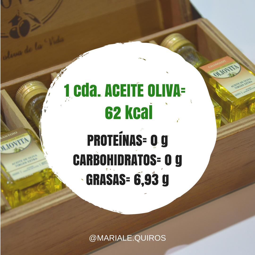 calorias de una cucharada de aceite de oliva virgen extra