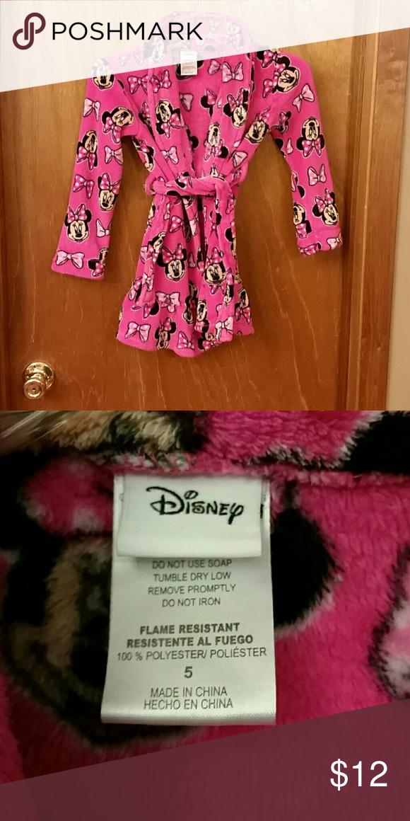Kids Minnis Mouse Robe 5 Like New Disney Pajamas Robes Fashion Design Fashion Fashion Tips