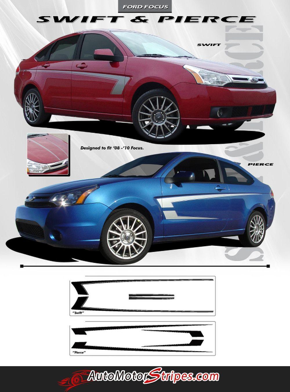 2008 2010 ford focus swift side door vinyl accent graphic 3m decals stripes