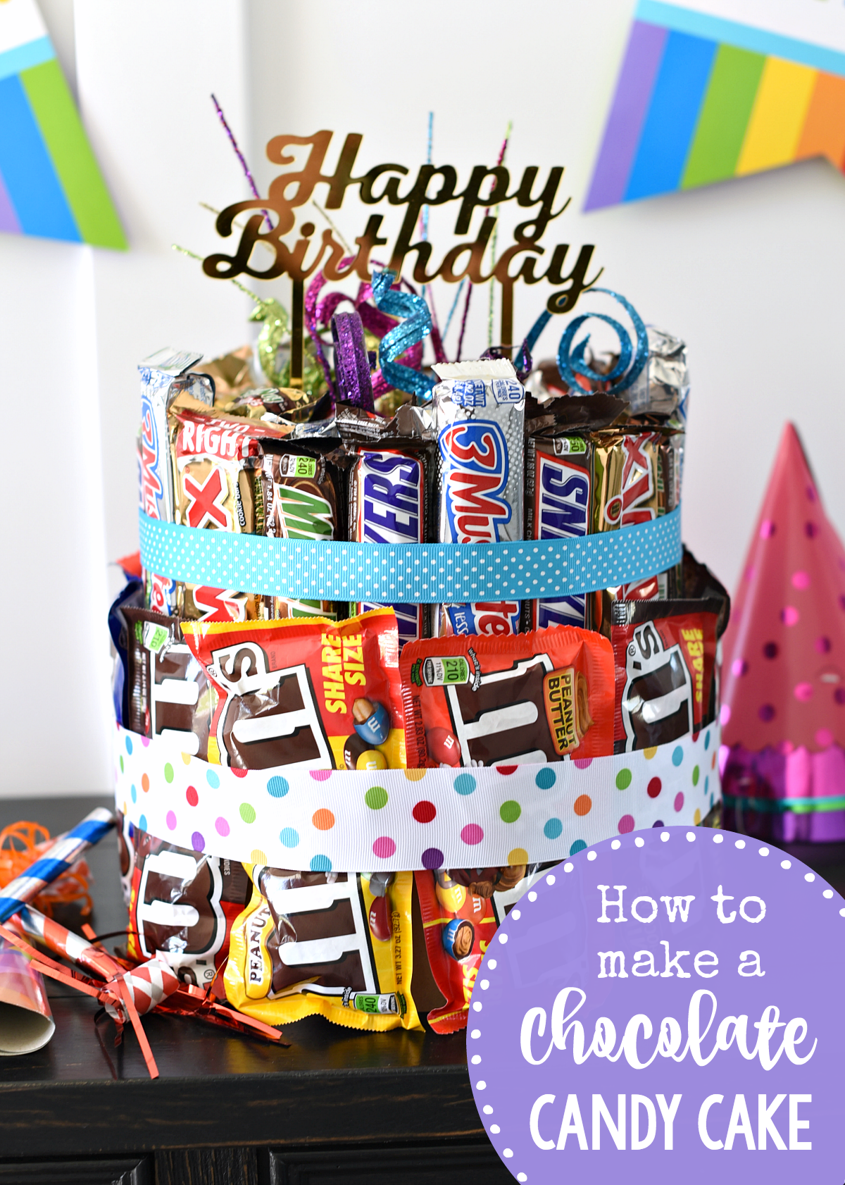 How to Make a Chocolate Candy Cake