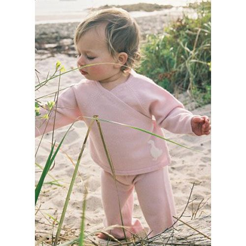 Pink Wrap Around Cashmere Sweater Set from PoshTots