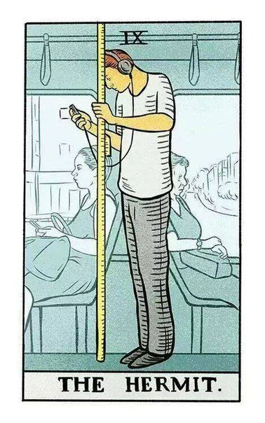 This Modern Take On The Hermit Card Is Gold Tarot Cards The