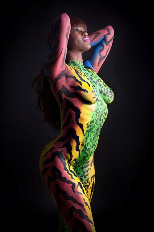 Airbrush body erotica painting picture 364