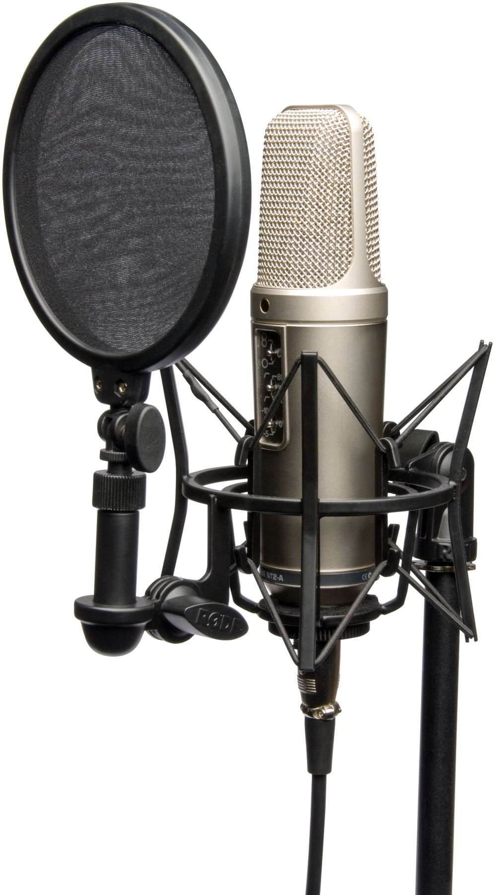 Rode Nt2 A Large Diaphragm Condenser Microphone Music Studio Room Microphone Studio Microphone