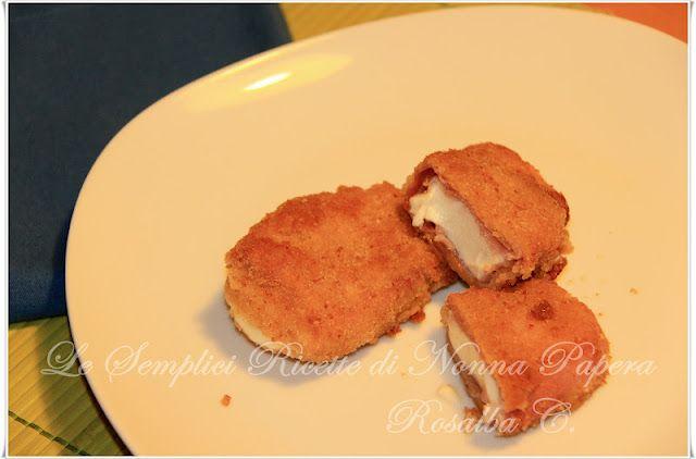 Le semplici ricette di Nonna Papera: MOZZARELLA IMPANATA CON SPECK