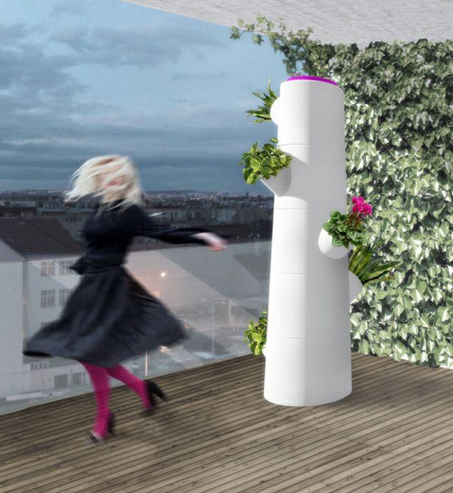 Blumentöpfe begrünte Wand coole Idee moderne Möbel   Sonstiges ...