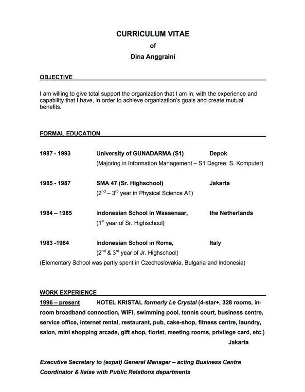 good objective for resume and get inspiration create best - sample resume for fresh graduate