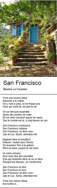 San Francisco Maxime Le Forestier  Maxime le forestier, Maison