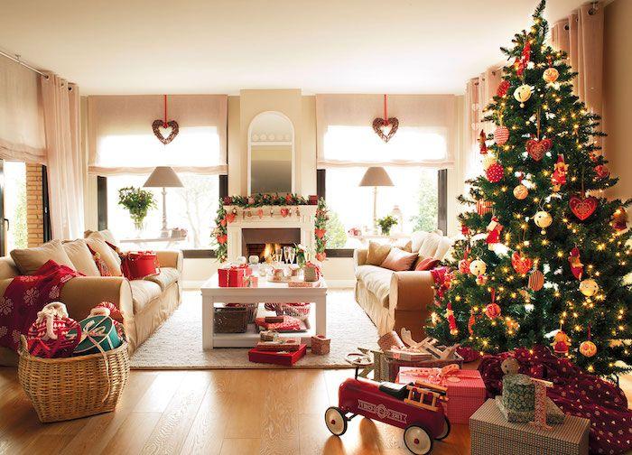 13 Wohnzimmer weihnachtlich dekorieren