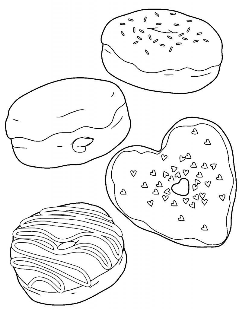 Donut Coloring Pages Donut Coloring Page Coloring Books
