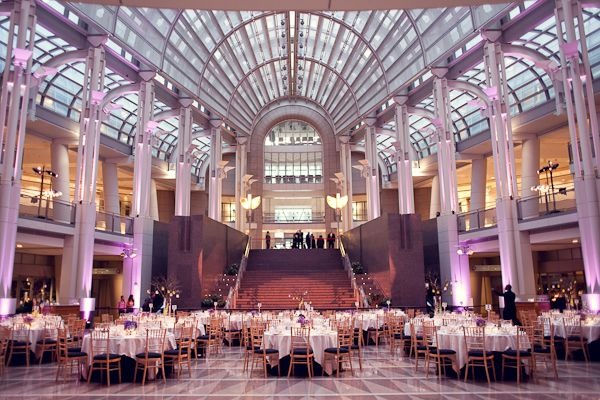 Purple White Modern Washington Dc Wedding Reception Venue2