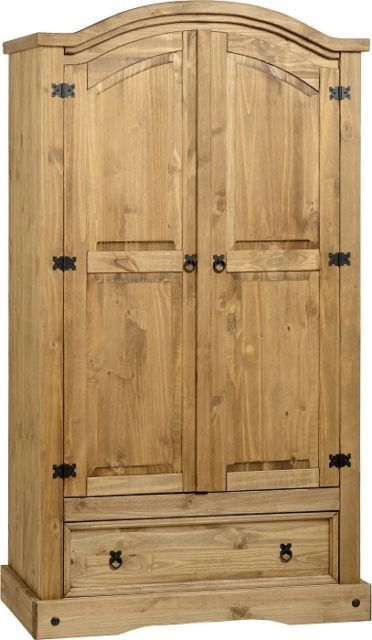 Details About Mexican Pine Corona 2 Door 1 Drawer Double Wardrobe Free Next Day Delivery Pine Bedroom Furniture Pine Wardrobe Wardrobe Furniture