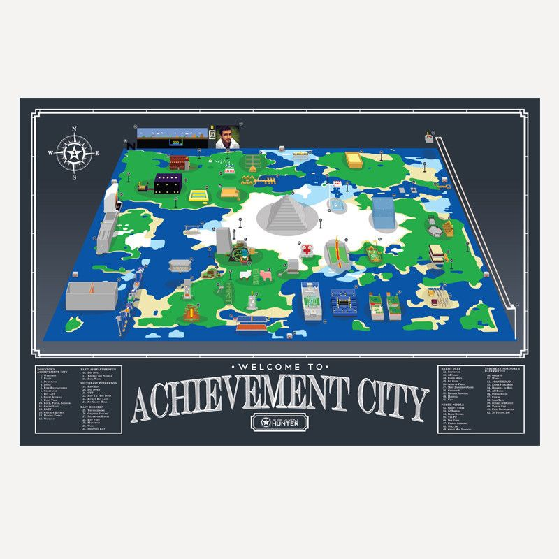 Achievement City Map AH Achievement City Map Poster | RT and AH | City map poster