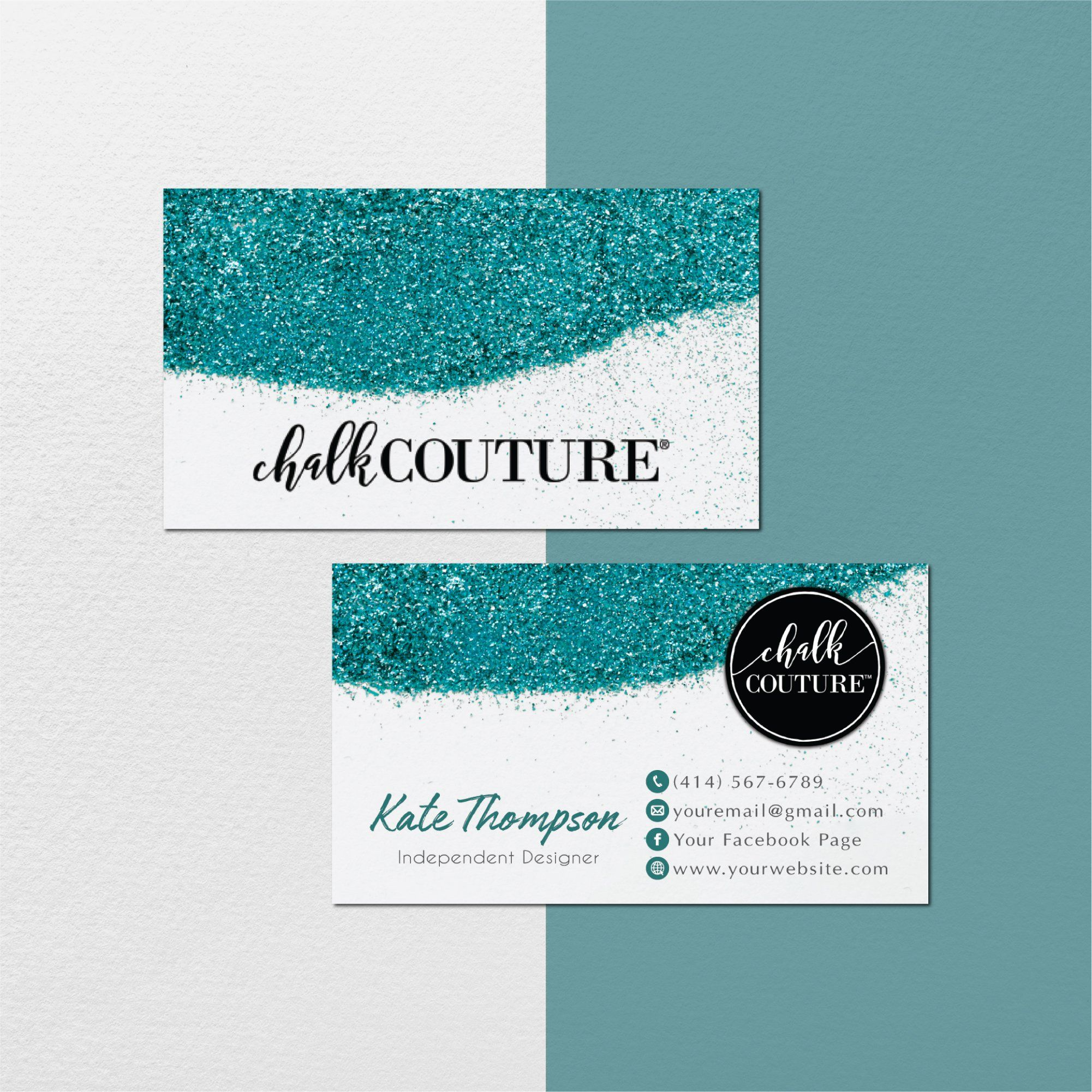 Personalized Chalk Couture Template Glitter Chalk Couture Cards Cc03 Company Business Cards Cards Templates