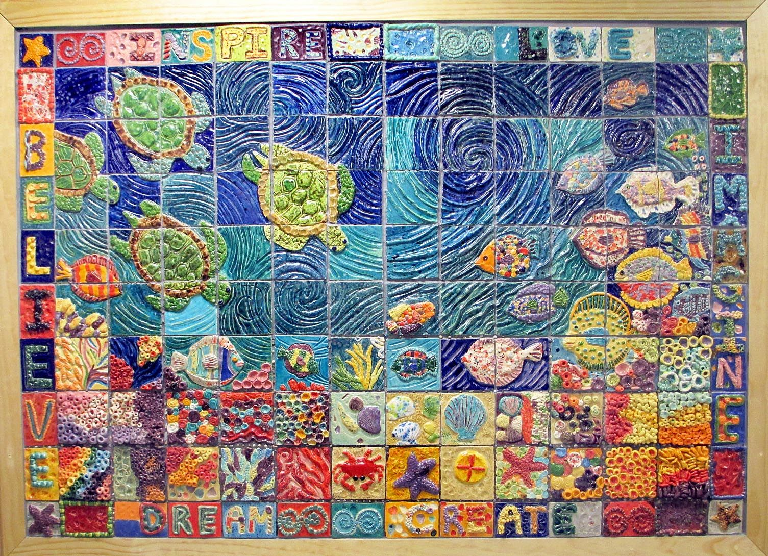 Collaborative ceramic tile mural oswego middle school mural collaborative ceramic tile mural oswego middle school doublecrazyfo Images