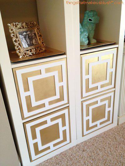 ikeahack overlays gold ikea hacks pinterest ikea m bel m bel und diy und selbermachen. Black Bedroom Furniture Sets. Home Design Ideas