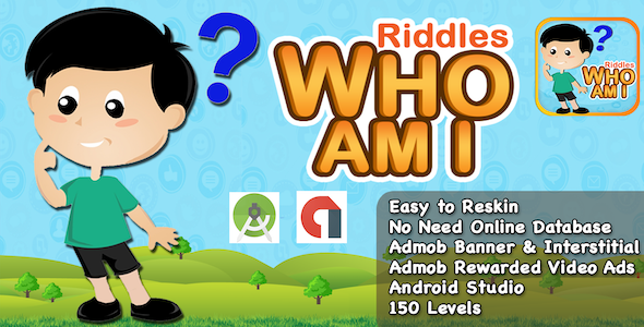 Free Download Riddle Who Am I + Best Kids Quiz App + Ready