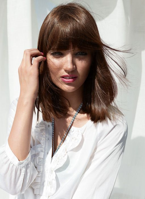 Long Bob Mit Pony In 2019 Hair Pinterest Dünnes Haar Bob