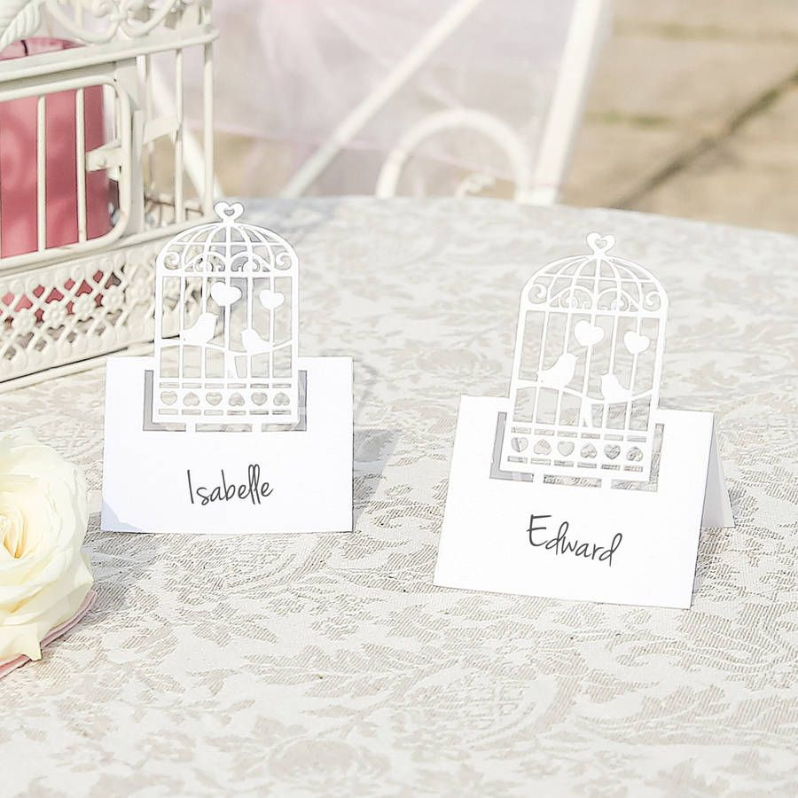 Pack Of 10 White Birdcage Favour Boxes | Favours