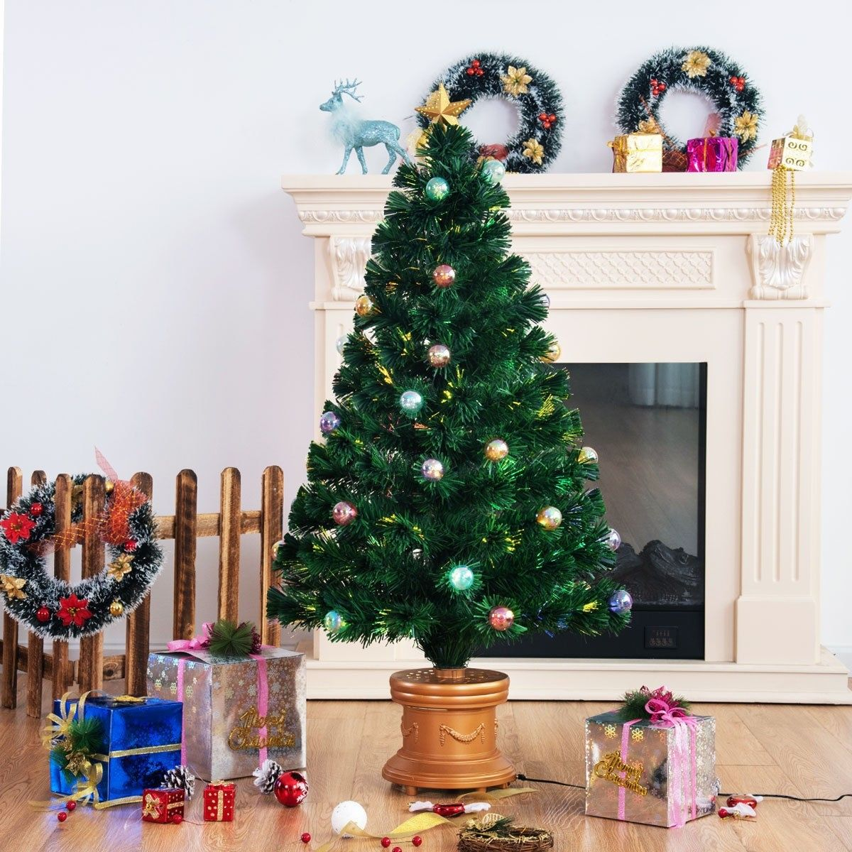 PreLit Fiber Optical Firework Christmas Tree Christmas