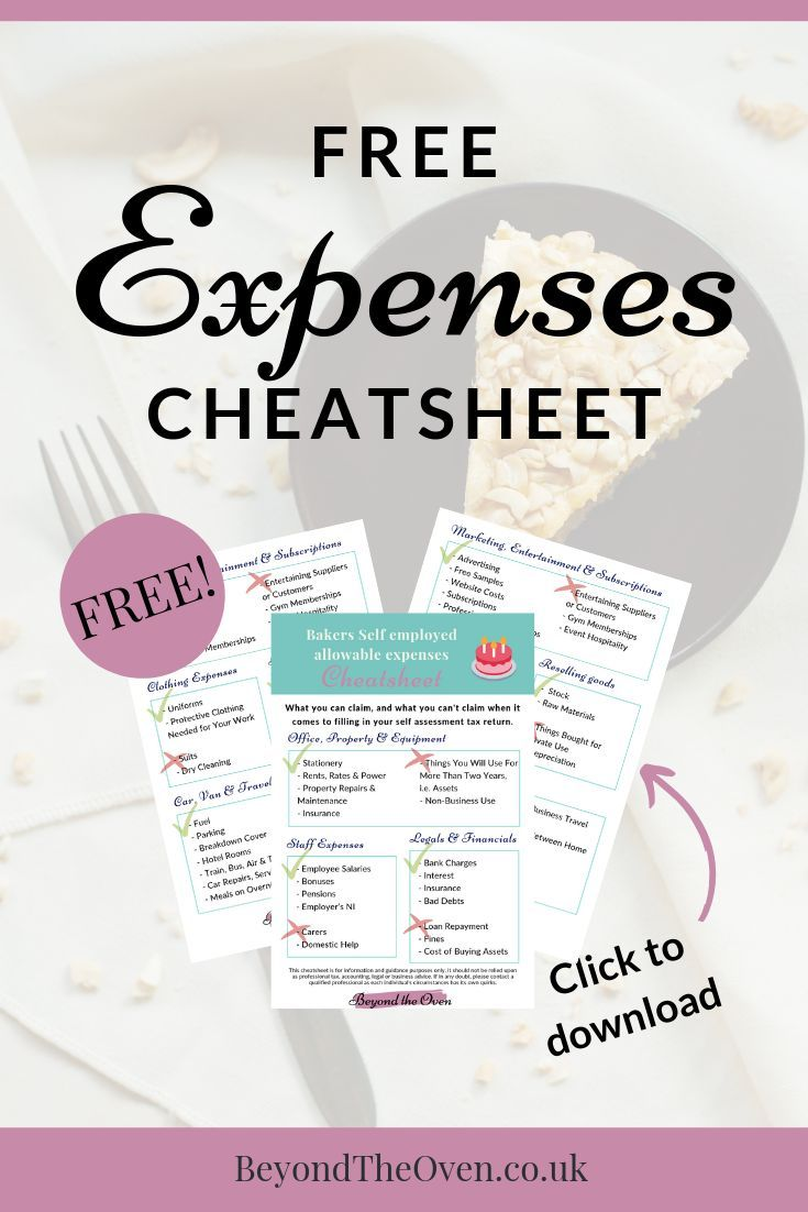 Cheatsheet Signup Small Business Finance Business Expense