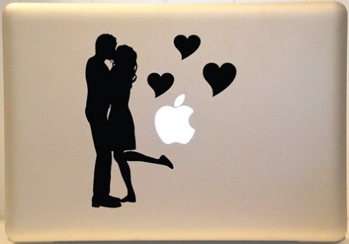 Couple Kissing Macbook Decal Vinyl Sticker For Mac Laptop Crafty - Vinyl stickers for laptops