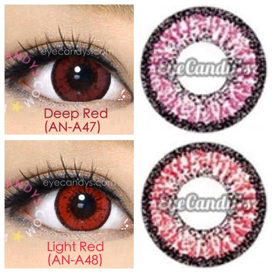 Red colored contacts (circle lenses) are amazing for ...