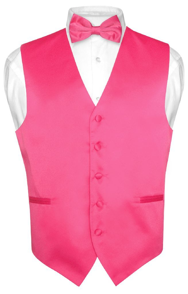 fcc9cc54bb96 Brand New Vesuvio Napoli Brand Designed in Italy Vest and BOWTie Set. Men's  Solid Color Dress Vest with BOW Tie of the Same Color and Made From The  Same ...