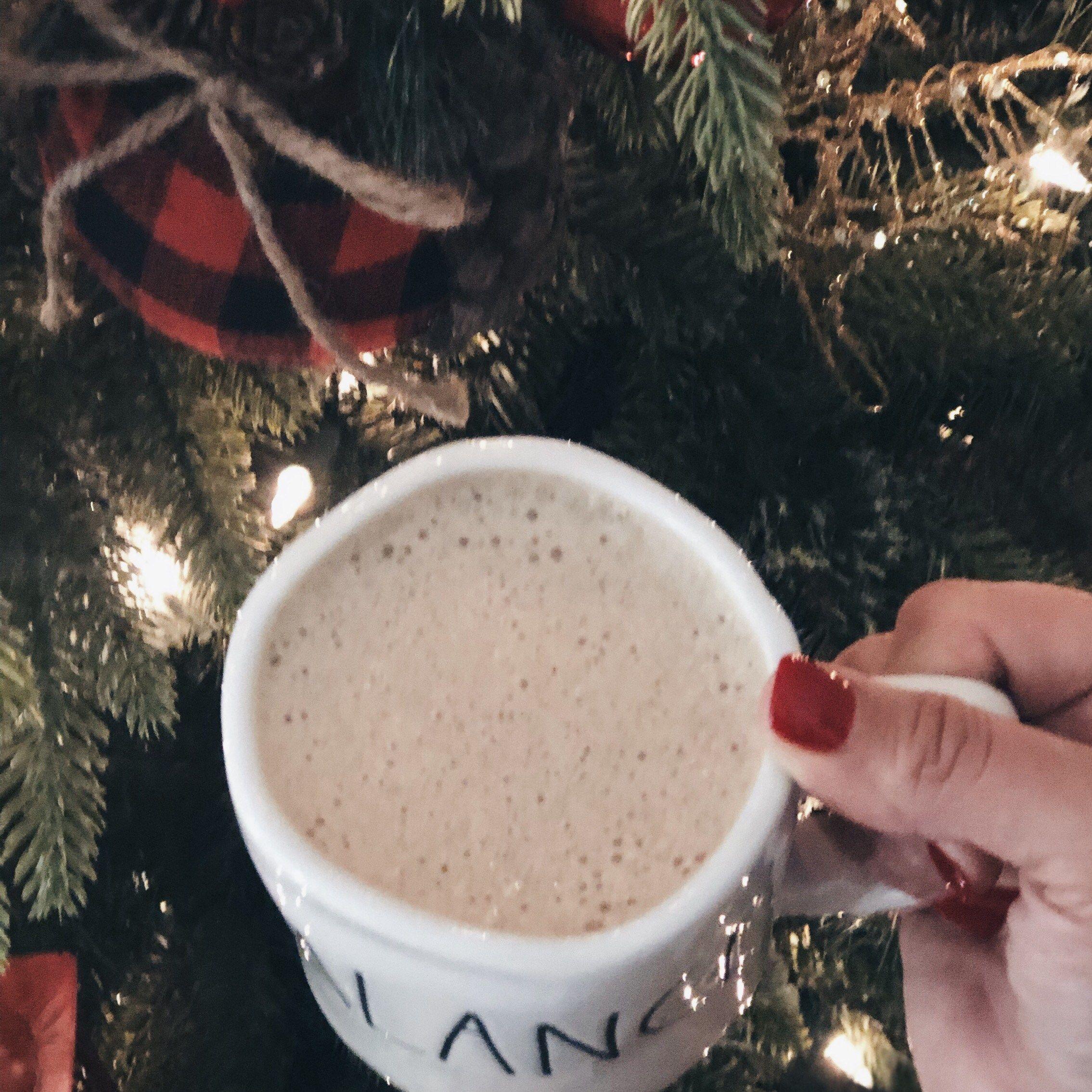 No guilt peppermint mocha coffee creamer balanced from