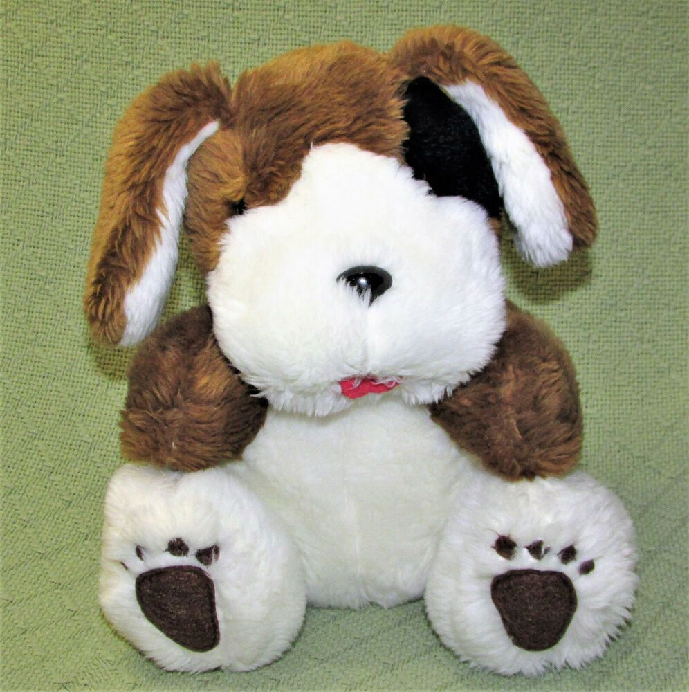 Rare Vintage Hill S Puppy Dog Stuffed Animal 10 Plush Brown White Black Toy Hills With Images Dog Stuffed Animal Pet Dogs Puppies Plush Dog
